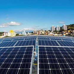 Placa de energia solar industrial